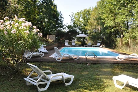 """"""" il platano"""" villa, con verde e piscina m 12x6 - Coppe - 別荘"""