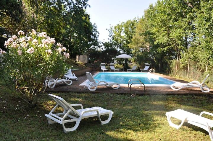 """"""" il platano"""" villa, con verde e piscina m 12x6"""