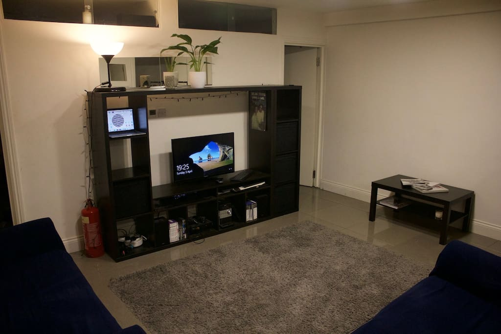 TV with Sky TV and Netflix & separate speakers!