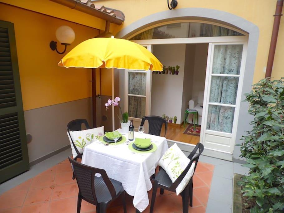 Private terrace/garden