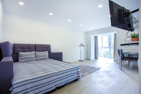 High standard apartment in the center, park view