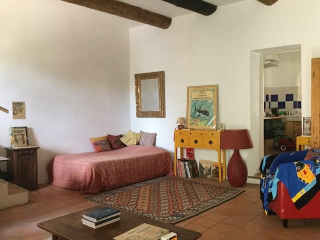 Maison avec jardin, village de charme, 15 mn d'Aix
