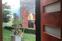 Garden view from the door.