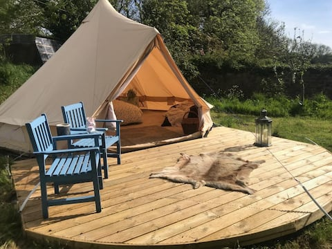 Maesgwynne Sole Tent Glamping:The Little Orchard