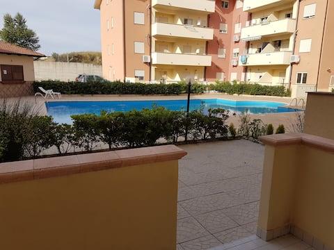 Apartment with pool in Caulonia Marina, Calabria