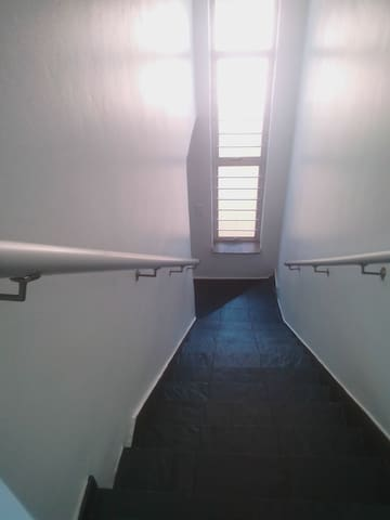 Staircase from bedroom nr 1