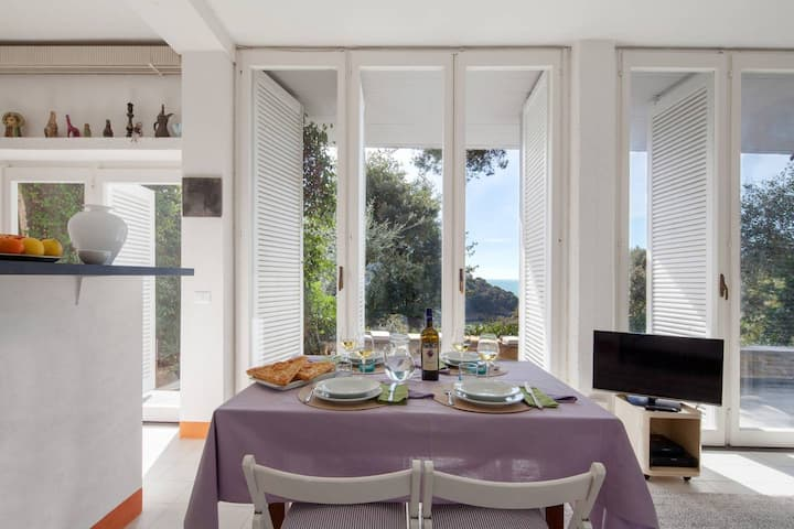 Fivestay - La Caletta - Lerici - Seaview and private access to the beach