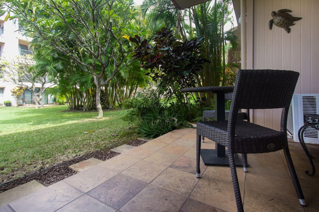 View from unit patio.  Great for family with small children, watch as they play on lawn just off unit.
