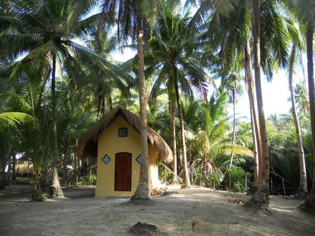 Beachfront Cottage with Air Conditioning - Busuanga - Hutte