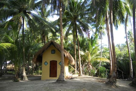 Beachfront Cottage with Air Conditioning - Busuanga - Хижина