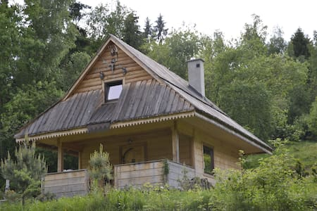 Beautiful wooden mountain hut