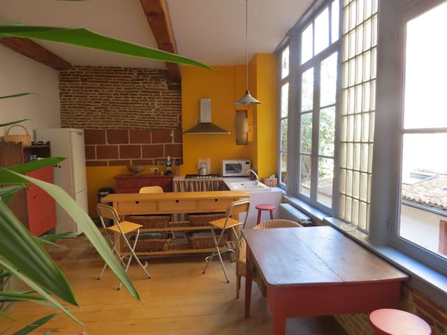 Charming 2 bedrooms + private box - Toulouse - Apartment