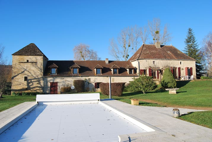 Former watermill with tennis and swimming pool