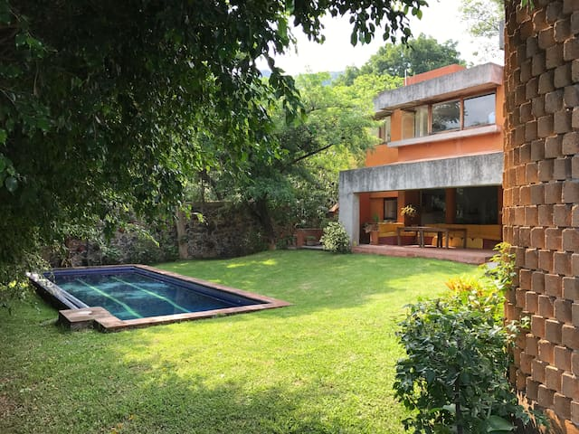 Habitación privada (2 personas), jardines, alberca