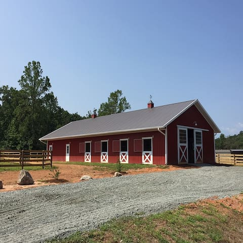 SADDLE TRAIL FARM on Moore, see TIEC (barn/stalls)