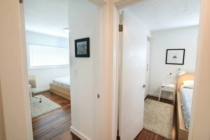 The two bedrooms