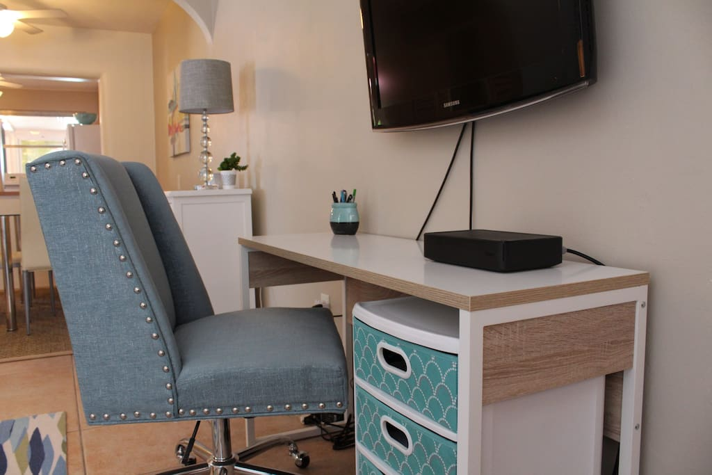 Work Station in the living area
