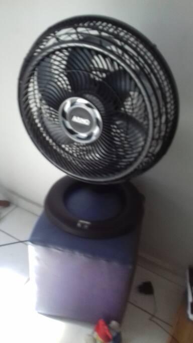 opçao de ventilador e ar condicionado