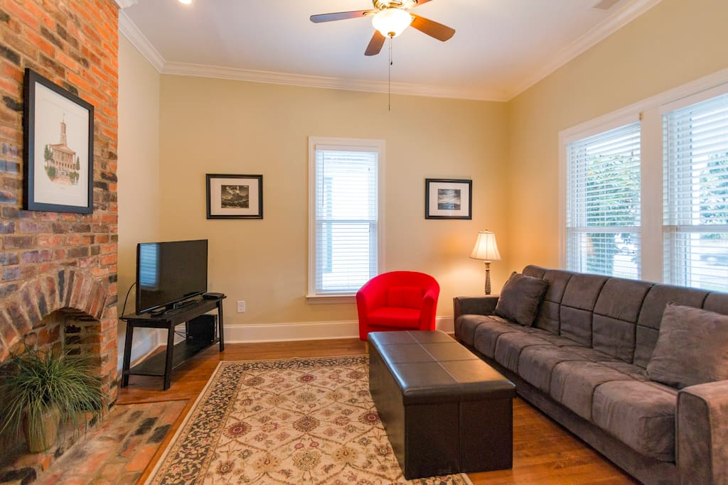 "Relax in the Living Room with 40"" Flat screen  TV"
