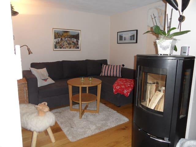 Vardagsrum med bäddsoffa för 2 pers