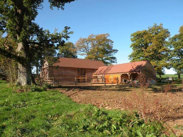 Luxury suite in restored woodland barn