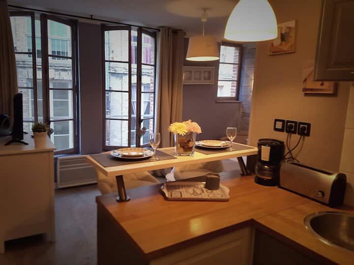 Appartement cosy à 10m du port dans rue piètonne