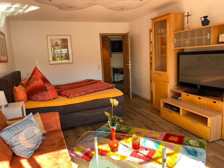 Eine 80 qm große Wohnung im schönen Allgäu + Sauna