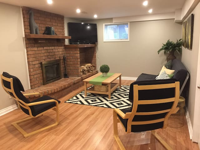 cozy, newly renovated walk out basement