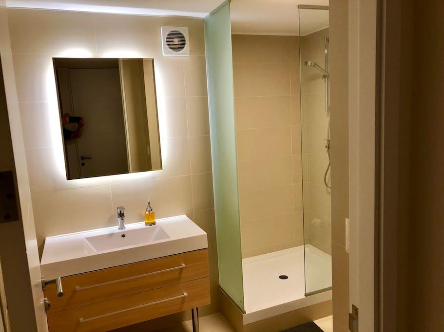 Detalle de Baño privado en cada dormitorio.
