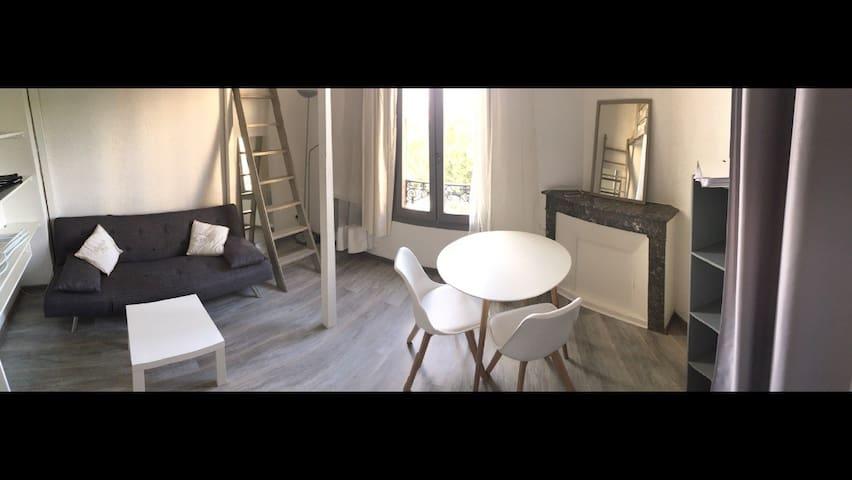 studio lumineux vue dégagée