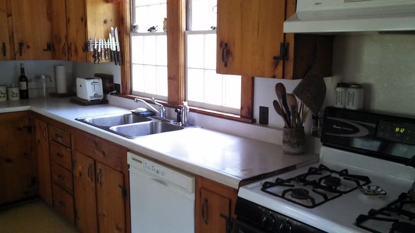 Gas stove and all kitchen utensils included