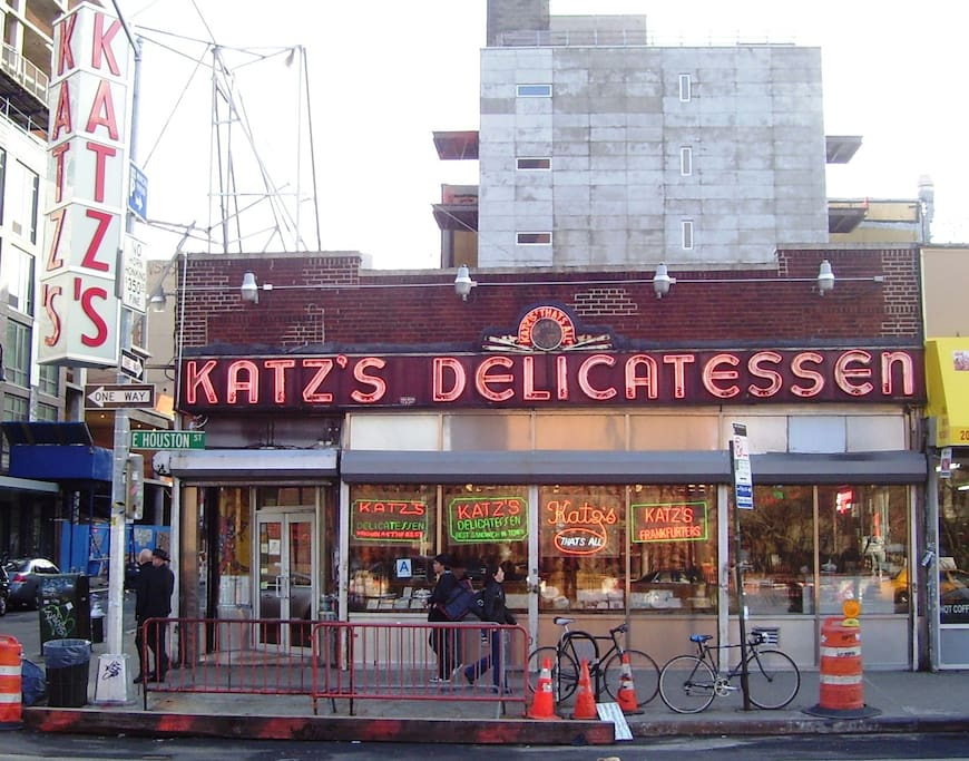 Down the street from famous Katz's Deli