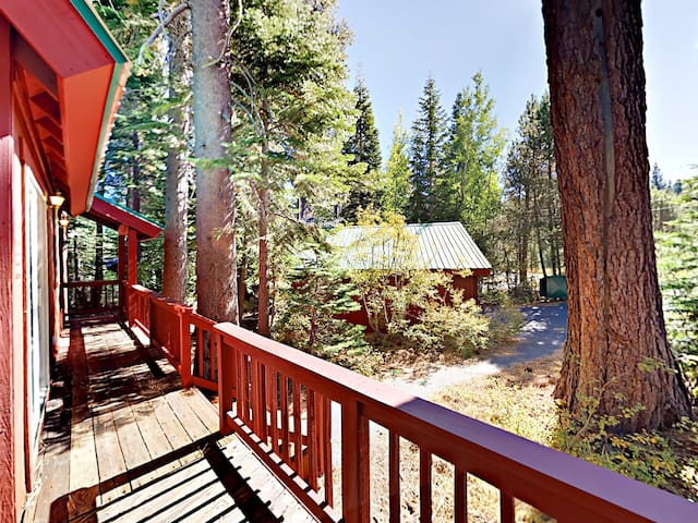 Walk to the Rubicon Trail from the home's wraparound balcony.