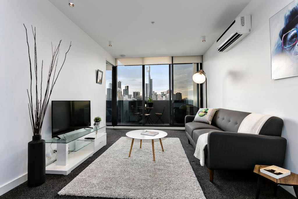 Modern decor throughout and views from everywhere.