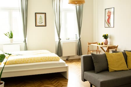 Bright studio with Viennese flair near downtown