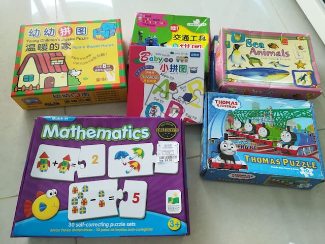 puzzles and flash cards for young kids