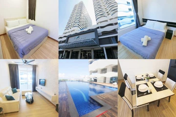 Cozy Home@The Wave Melaka/infinity pool/nr Jonker