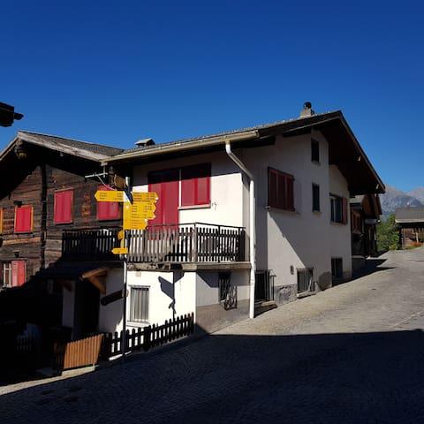 Haus mitten im Herzen des Wallis