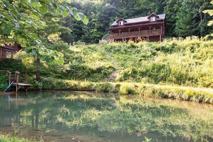Driftless Cabin Acreage, valley stream & pond