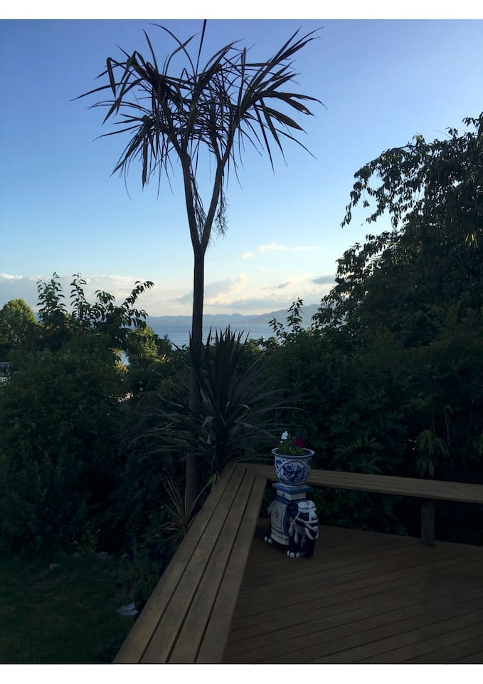 Looking over Lake Rotorua from the Deck