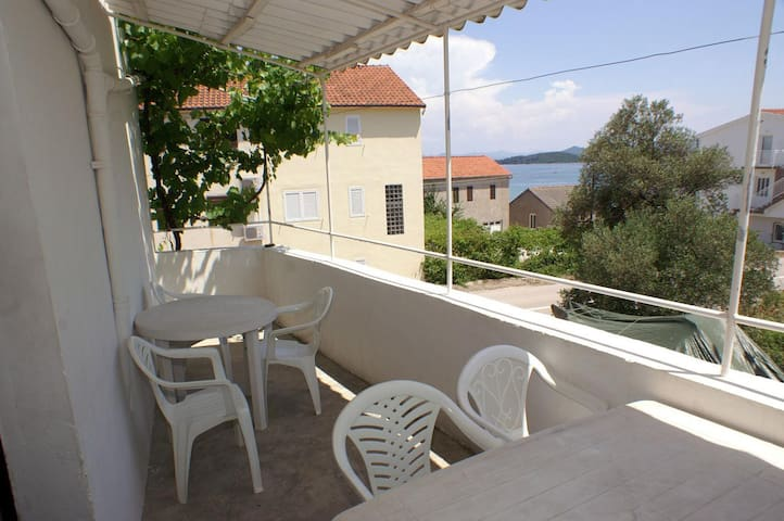 Three bedroom apartment with terrace and sea view Drače, Pelješac (A-4561-a)