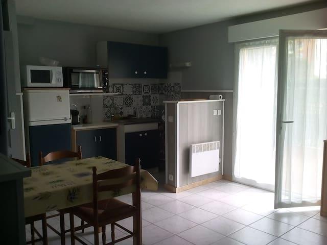 Grand Studio avec terrasse dans résidence calme