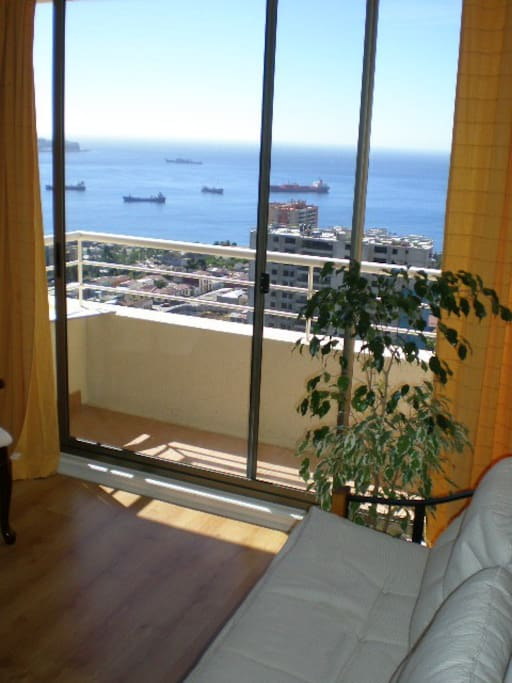 from the living-room you can enjoy the view