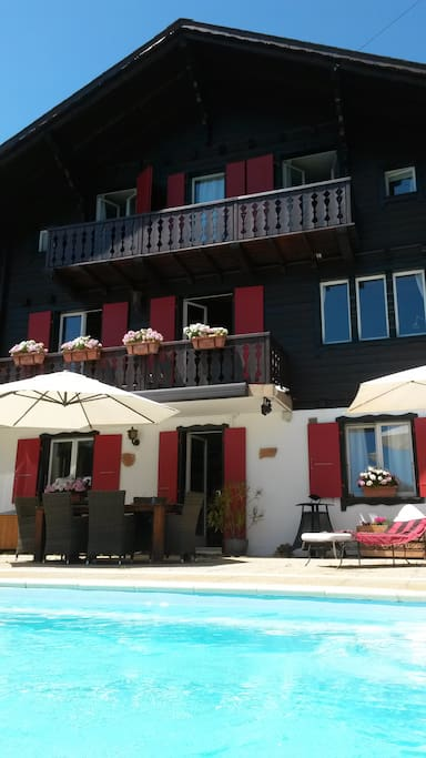 Self-contained appartment on ground floor of Chalet
