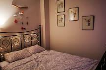 Bed room at night