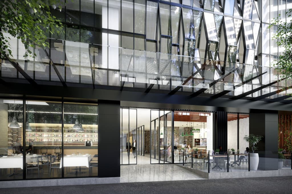 Front entrance at 568 Collins St
