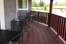 Seating on upper deck, perfect place to have your morning coffee