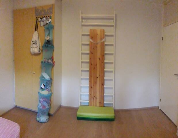 Wallbars that can be used for exercise during your stay.