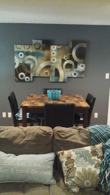 Family room is private for renter and has table
