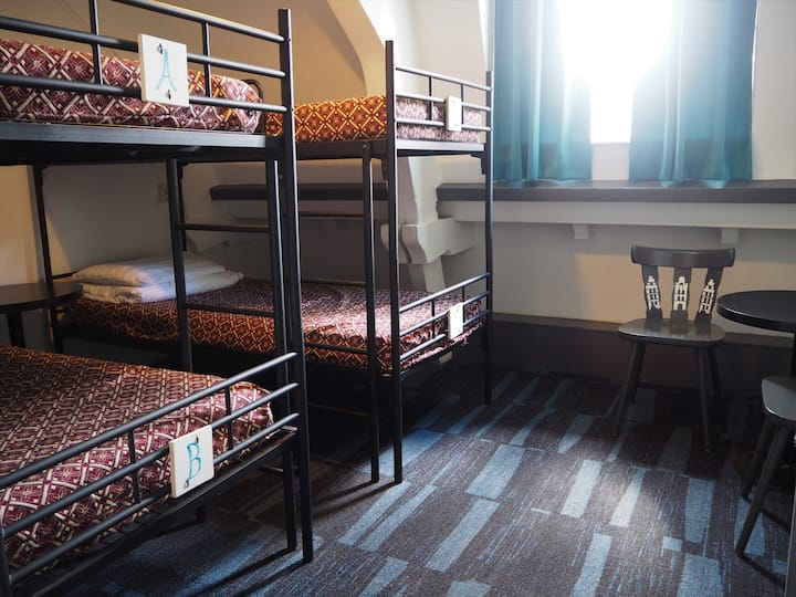 Private 4 person room, Euphemia Hotel, city center